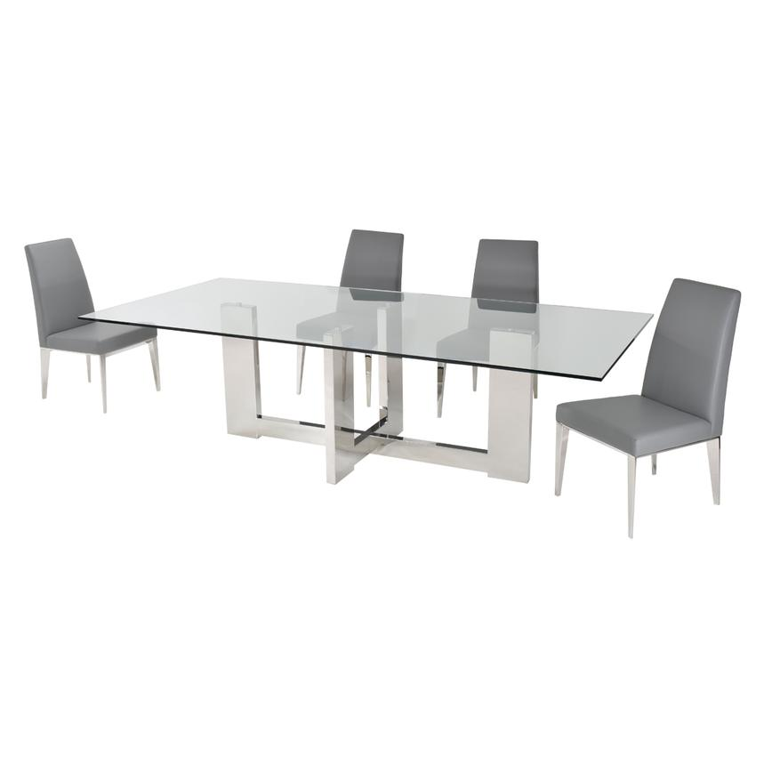 Opus Gray 5-Piece Formal Dining Set  alternate image, 2 of 10 images.
