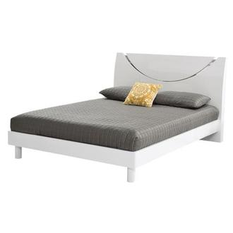Jolie White Queen Platform Bed