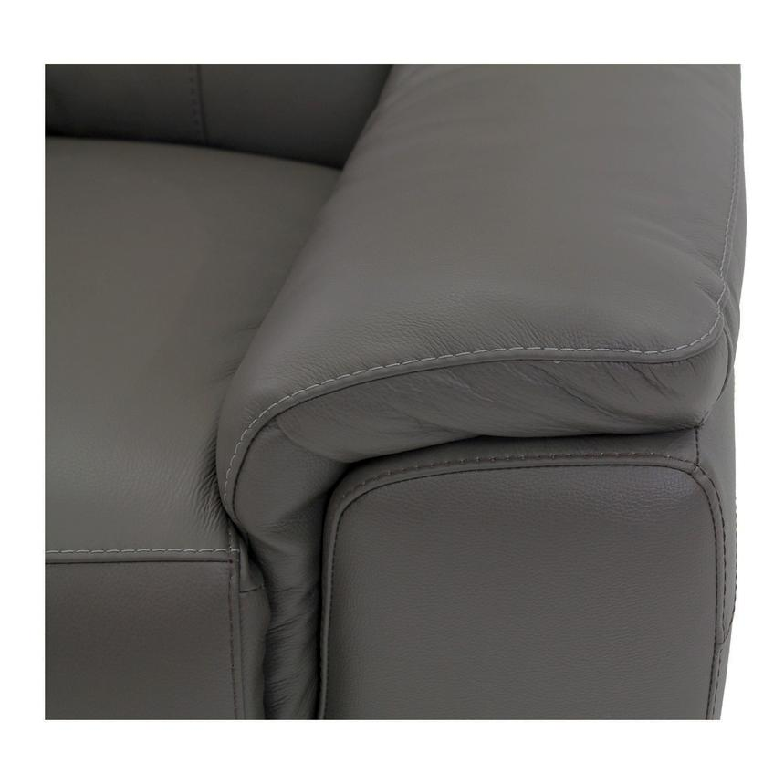 Davis Gray Power Motion Leather Sofa w/Right & Left Recliners  alternate image, 7 of 10 images.