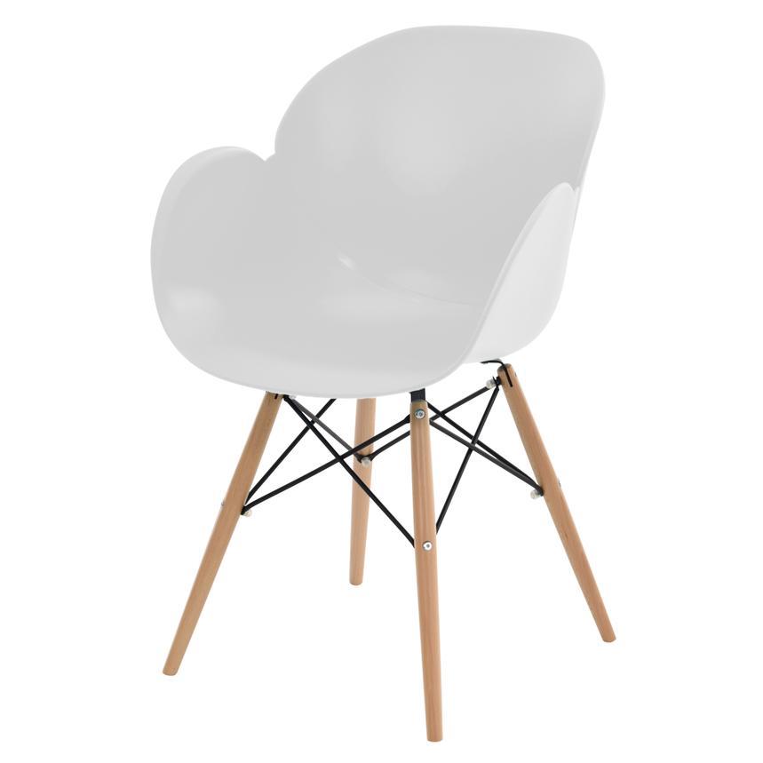 Attirant Salerno White Chair Alternate Image, 2 Of 5 Images.