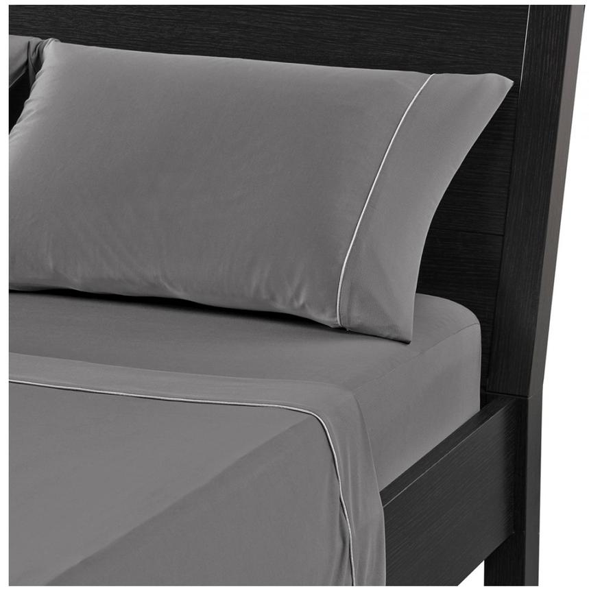 Dri-Tec Gray Twin XL Mattress Sheet Set  alternate image, 3 of 4 images.