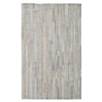 Marsala Cream Cowhide Patchwork 5' x 8' Area Rug