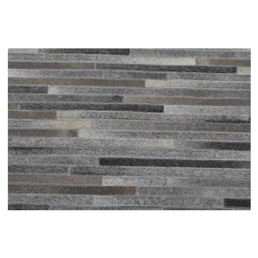 Capri Gray Cowhide Patchwork 5' x 8' Area Rug  alternate image, 2 of 3 images.