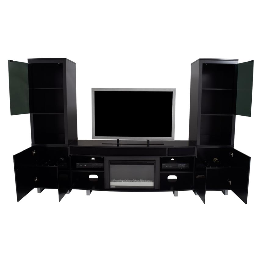 Enterprise Black Wall Unit w/Speakers  alternate image, 2 of 12 images.