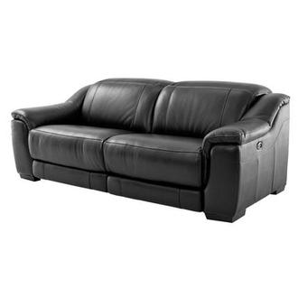 Davis Black Power Motion Leather Sofa