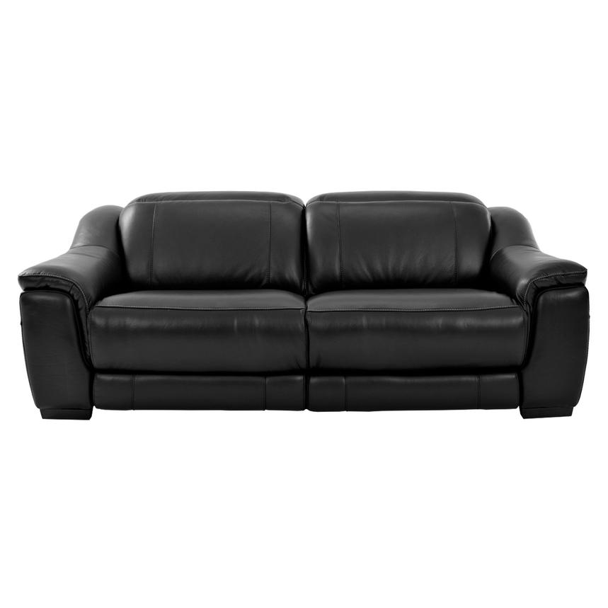 Davis Black Power Motion Leather Sofa  alternate image, 3 of 9 images.