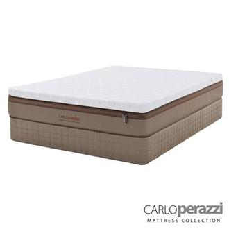 Naples Hybrid Queen Mattress Set w/Low Foundation by Carlo Perazzi