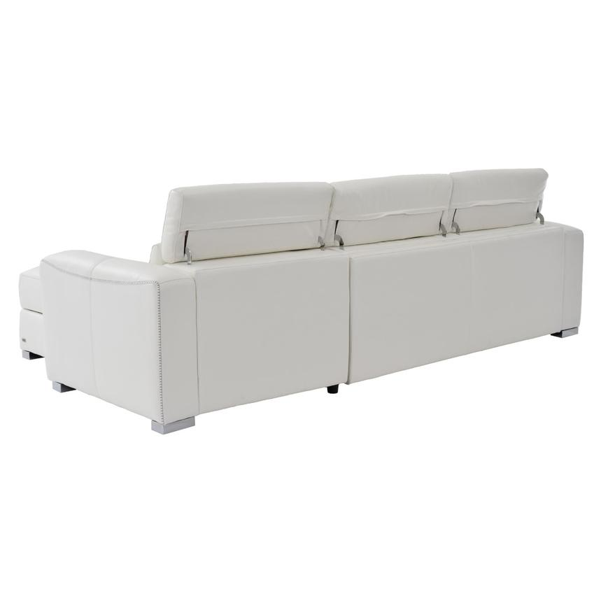 Bay Harbor White Leather Sleeper w/Storage  alternate image, 3 of 9 images.