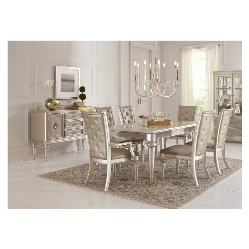 Dynasty 5-Piece Formal Dining Set  alternate image, 2 of 14 images.