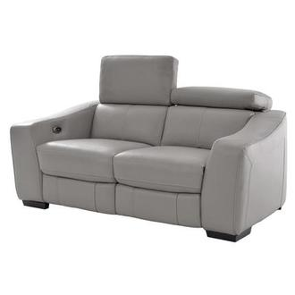 James Gray Power Motion Leather Loveseat