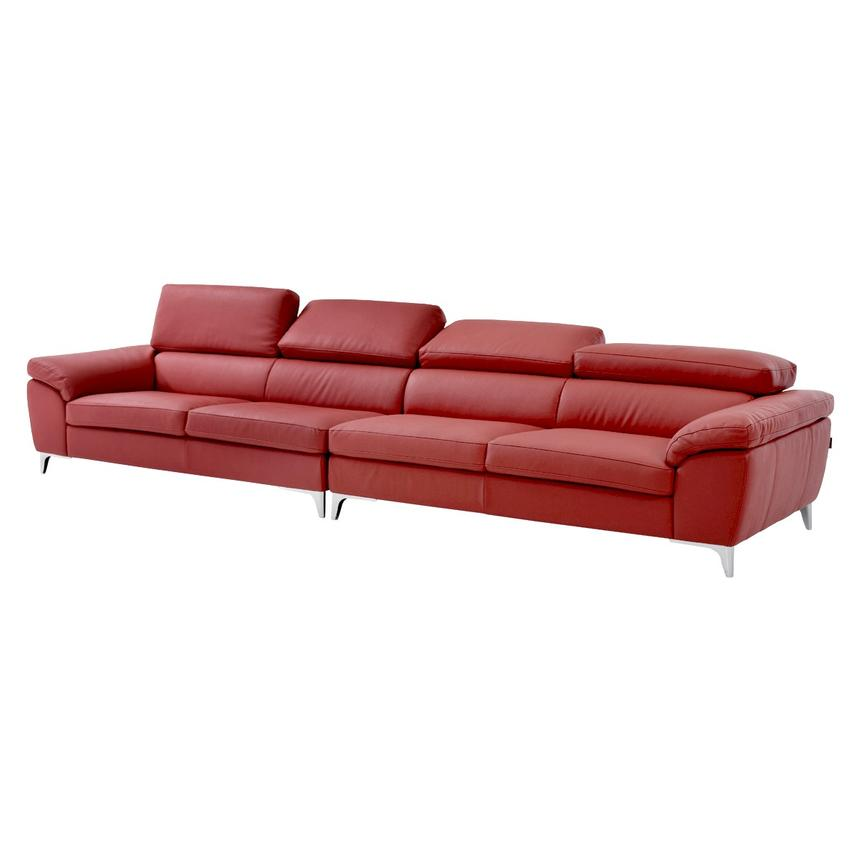 Costa Red Oversized Sofa  alternate image, 2 of 7 images.