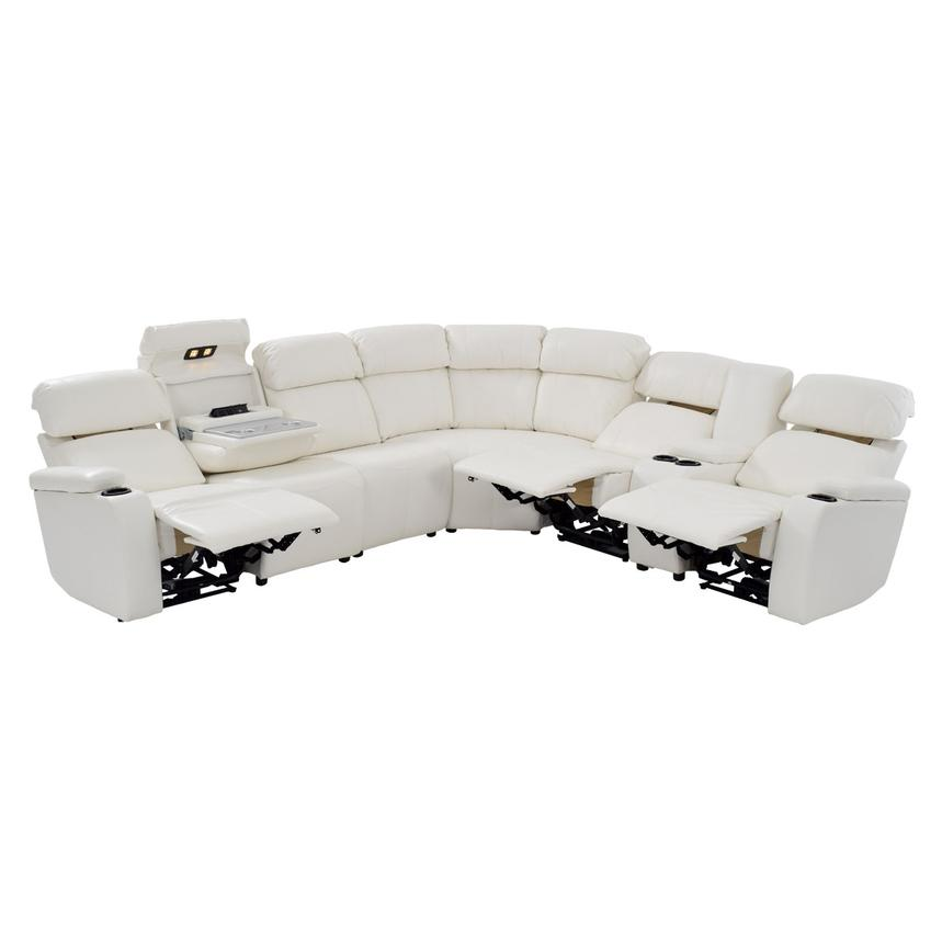 Magnetron White Motion Sofa W Right Left Recliners Alternate Image 2 Of