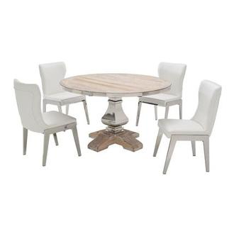 Wilma/Onyx 5-Piece Formal Dining Set