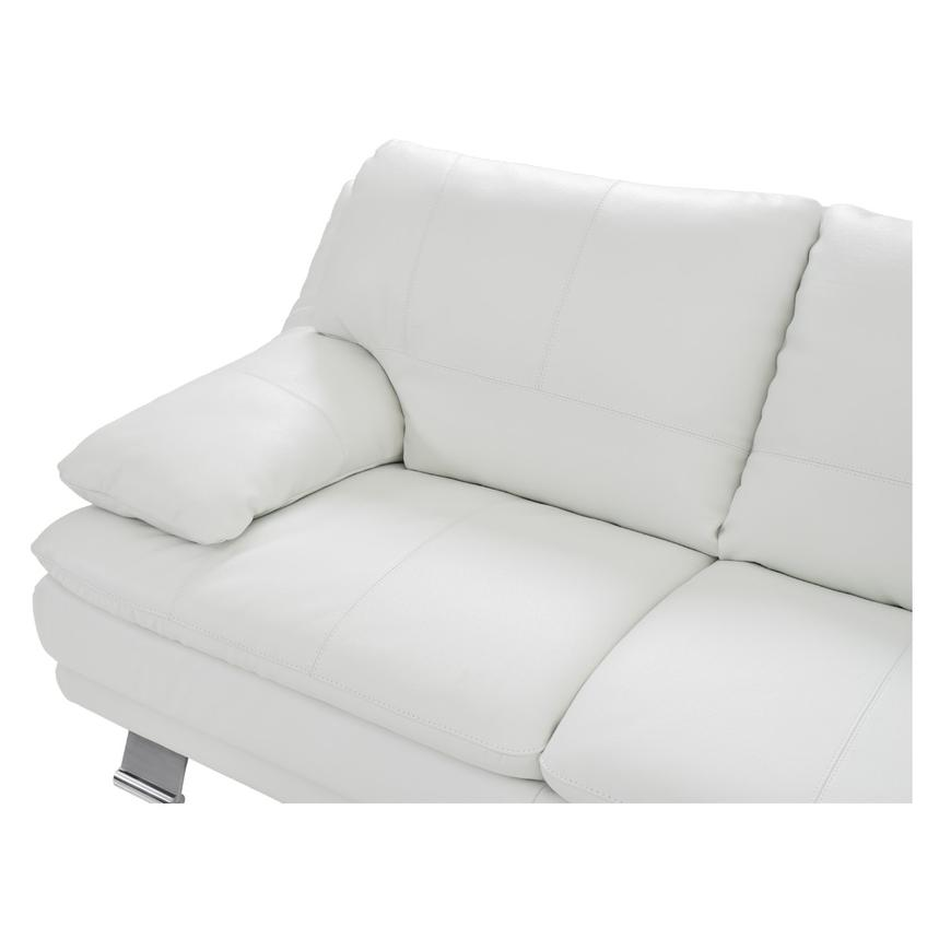 Rio White Leather Sofa w/Right Chaise  alternate image, 3 of 7 images.