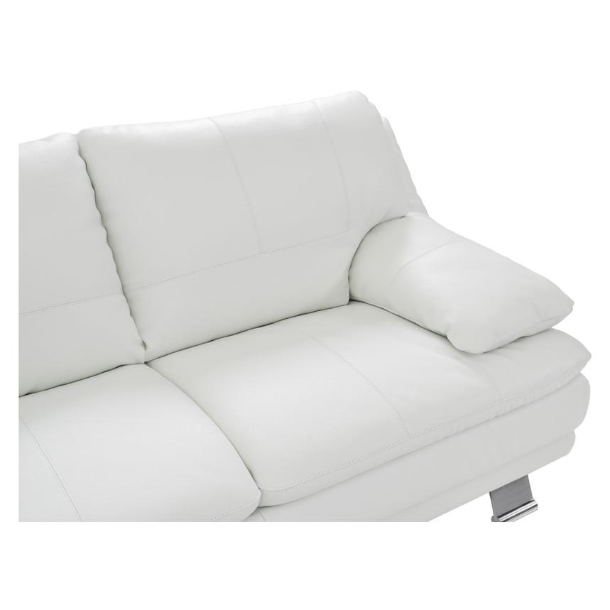 Rio White Leather Sofa w/Left Chaise  alternate image, 3 of 8 images.