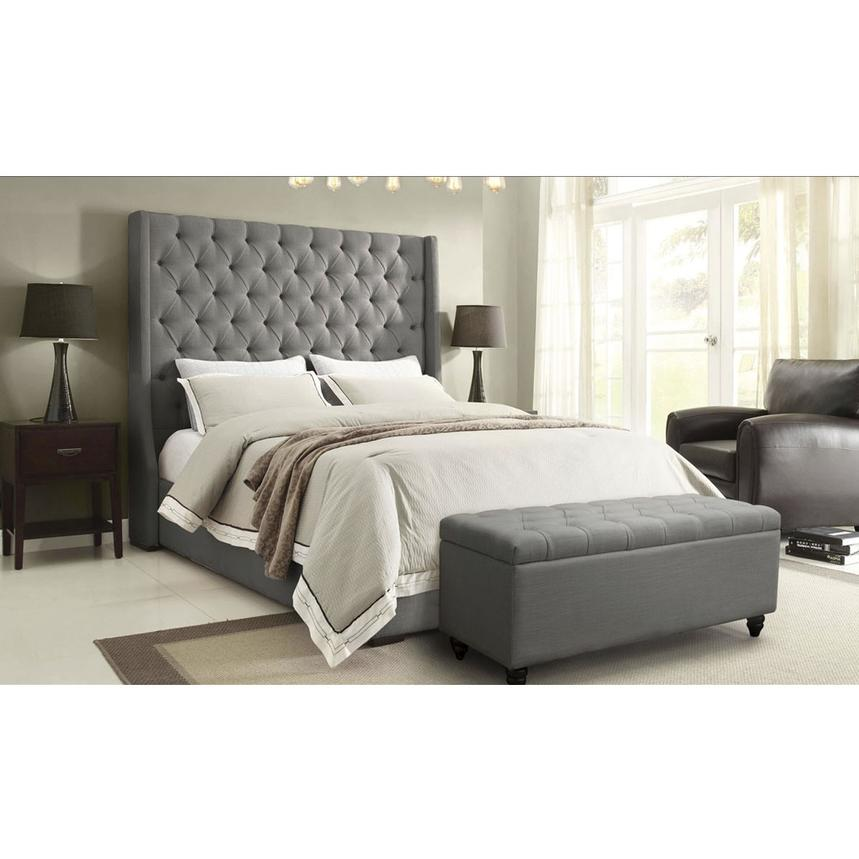 Park Avenue Gray Queen Platform Bed El Dorado Furniture