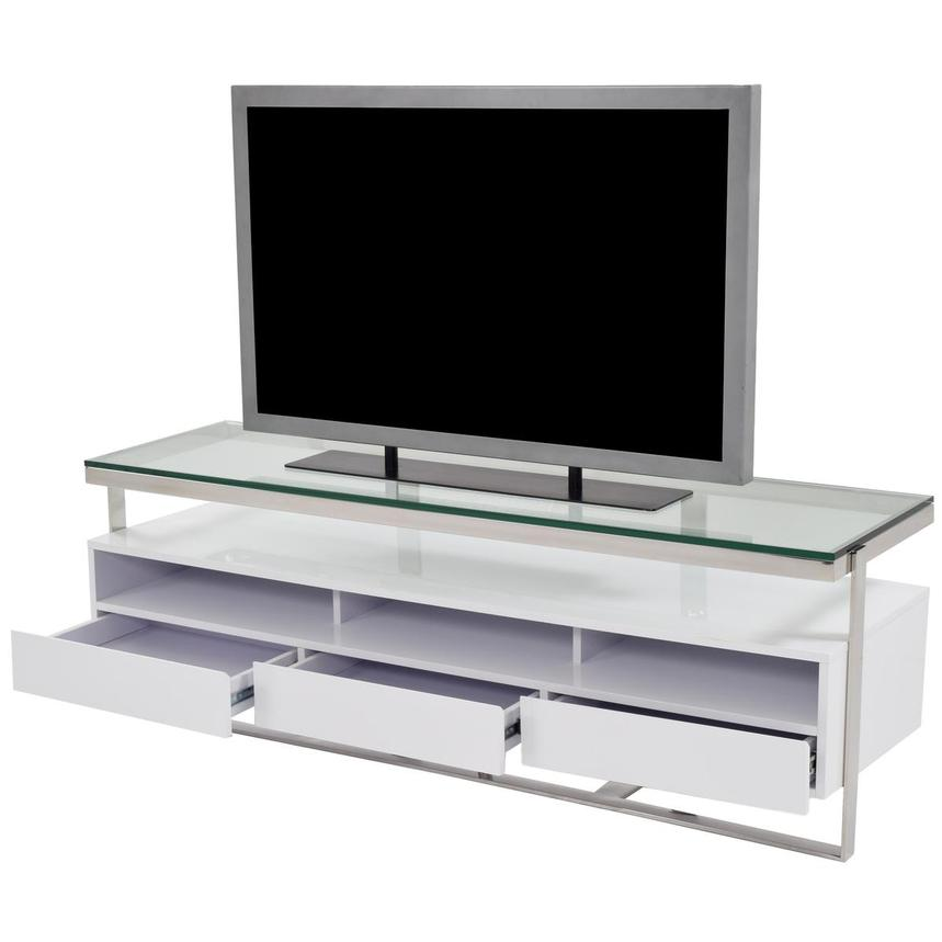 Calypso White TV Stand  alternate image, 3 of 5 images.