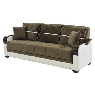 Bennett Brown Futon Sofa w/Storage