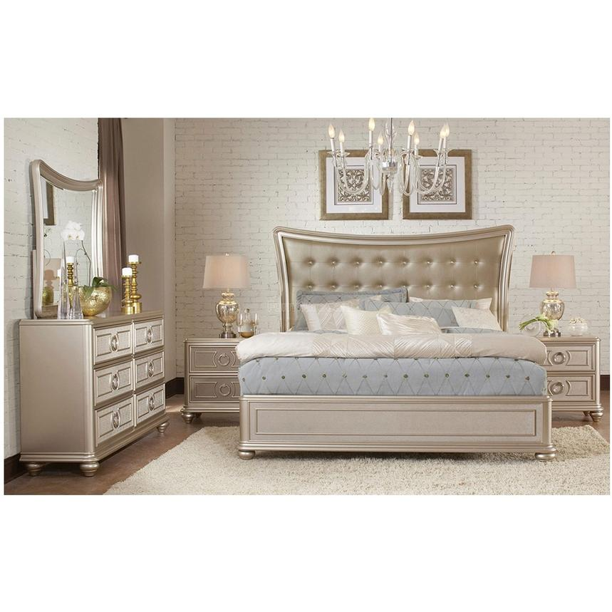 Dynasty King Platform Bed  alternate image, 2 of 7 images.