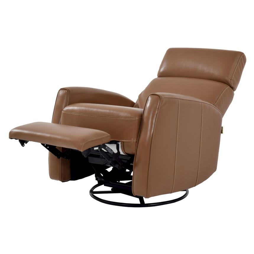 Lucca Brown Power Motion Leather Recliner  alternate image, 2 of 7 images.