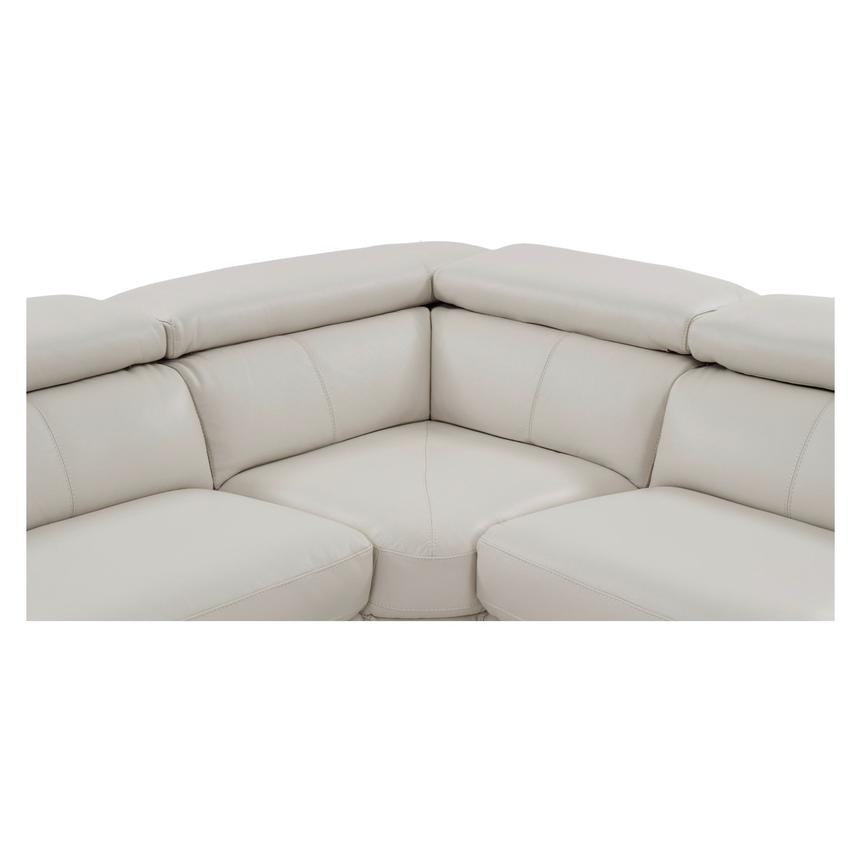 Nathan Cream Power Motion Leather Sofa w/Console  alternate image, 7 of 11 images.