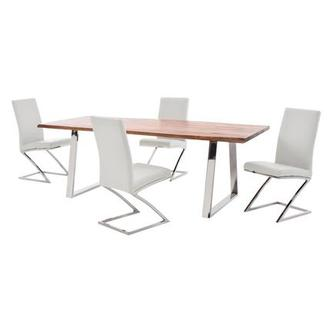 Advik/Jade White 5-Piece Formal Dining Set