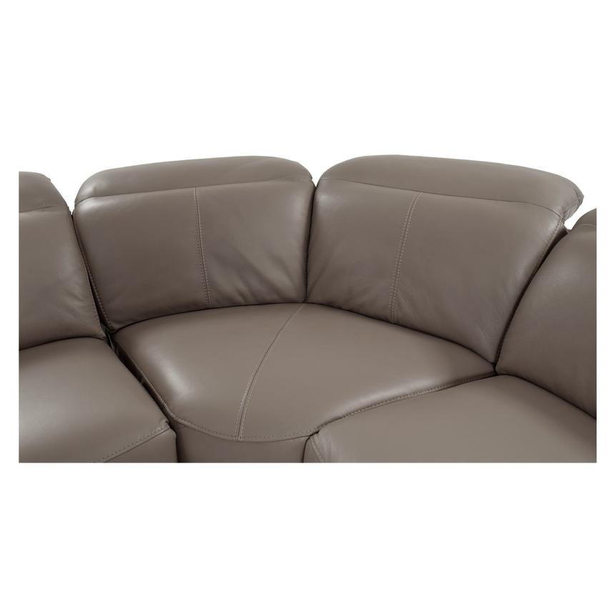 Gaspy Gray Power Motion Leather Sofa w/Right & Left Recliners  alternate image, 7 of 11 images.