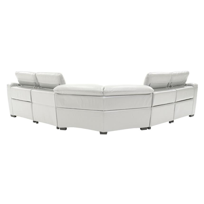 Davis White Power Motion Leather Sofa w/Right & Left Recliners  alternate image, 3 of 9 images.