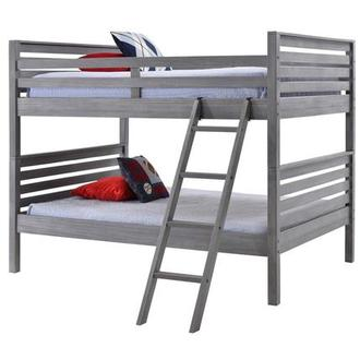 Montauk Gray Full Over Full Bunk Bed Made in Brazil
