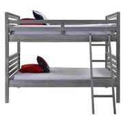 Montauk Gray Full Over Full Bunk Bed Made in Brazil  alternate image, 2 of 6 images.