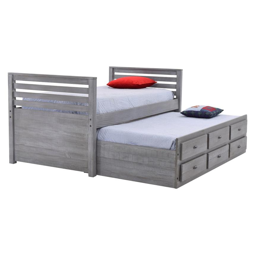 Montauk Gray Twin Storage Captain Bed Made in Brazil  alternate image, 2 of 8 images.