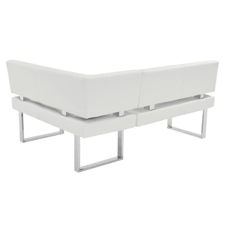 Lorange/Linden White Corner Nook Set w/Bench  alternate image, 7 of 13 images.