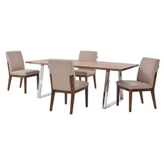 Advik/Suria Taupe 5-Piece Formal Dining Set