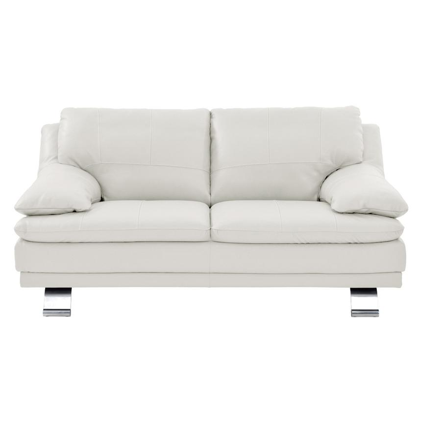 Rio White Leather Loveseat  alternate image, 2 of 6 images.