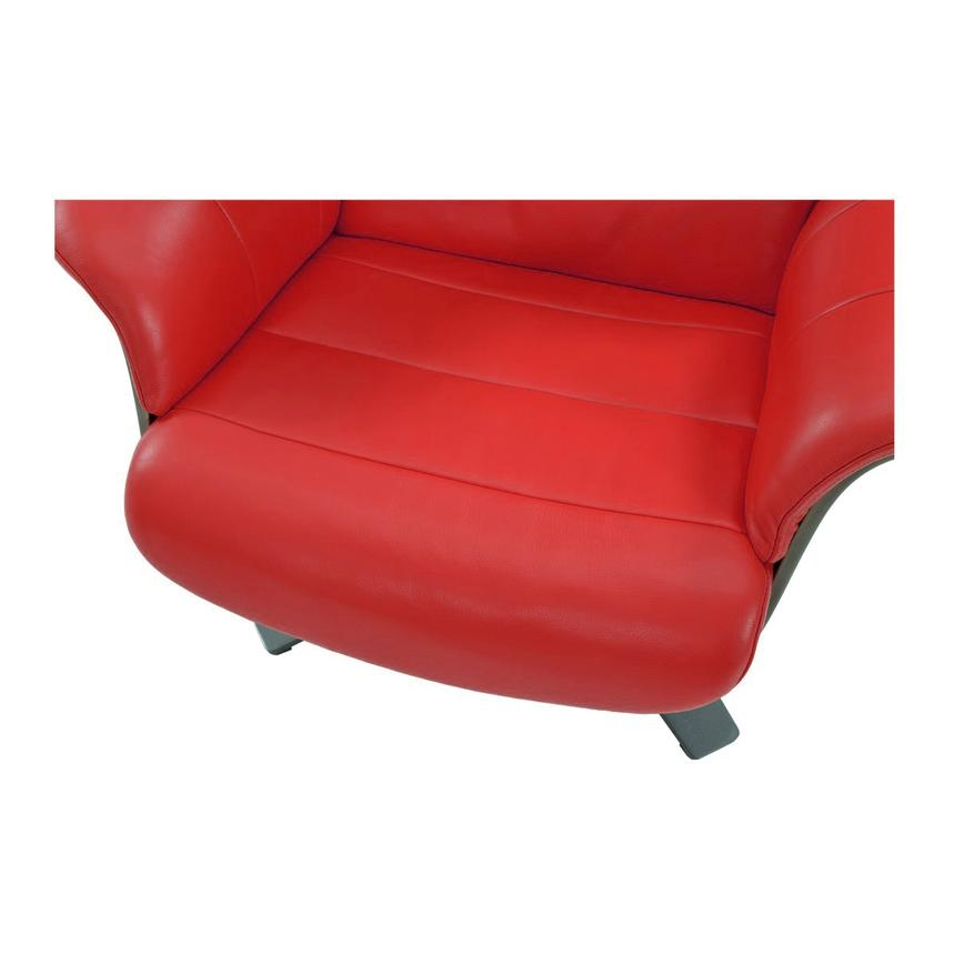 Enzo Red Leather Swivel Chair  alternate image, 7 of 9 images.