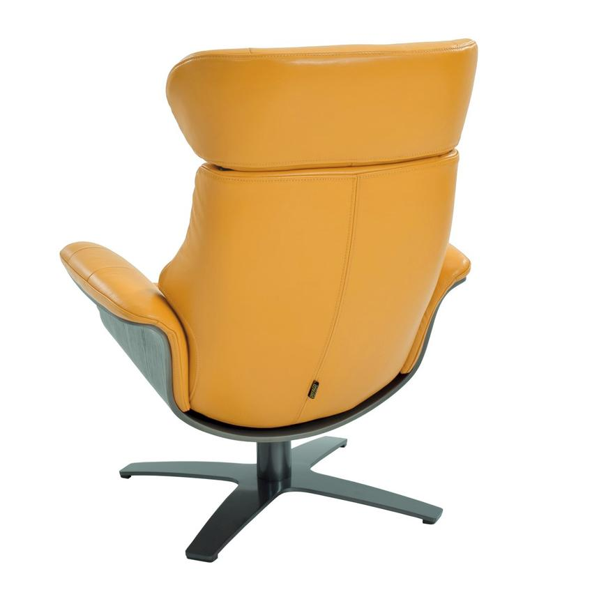 Enzo Yellow Leather Swivel Chair  alternate image, 4 of 10 images.