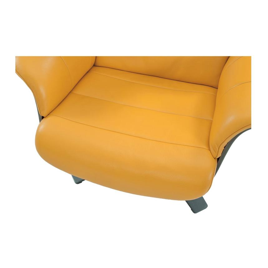 Enzo Yellow Leather Swivel Chair  alternate image, 7 of 9 images.
