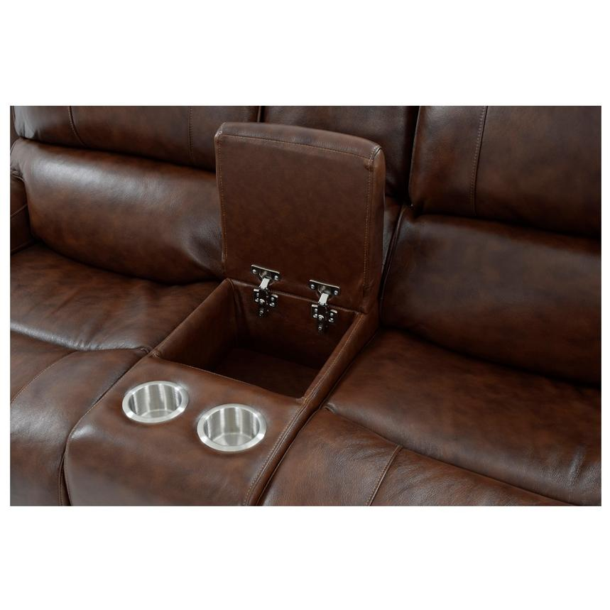 Durham Power Motion Leather Sofa w/Console  alternate image, 8 of 13 images.
