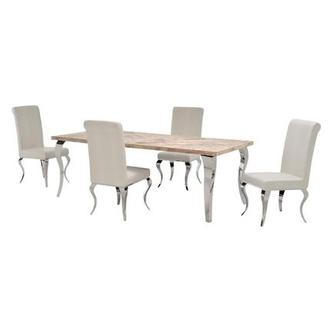 Everest/Lizbon 5-Piece Formal Dining Set