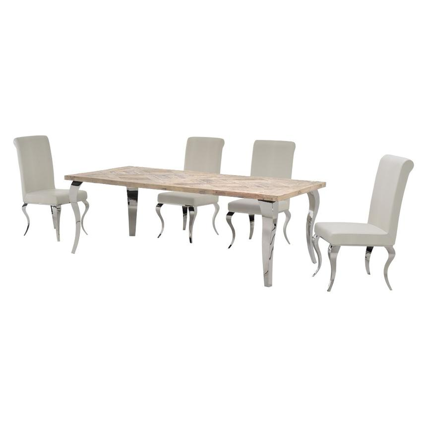 Everest/Lizbon 5-Piece Formal Dining Set  alternate image, 2 of 13 images.