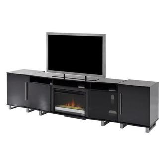 Enterprise Black Faux Fireplace