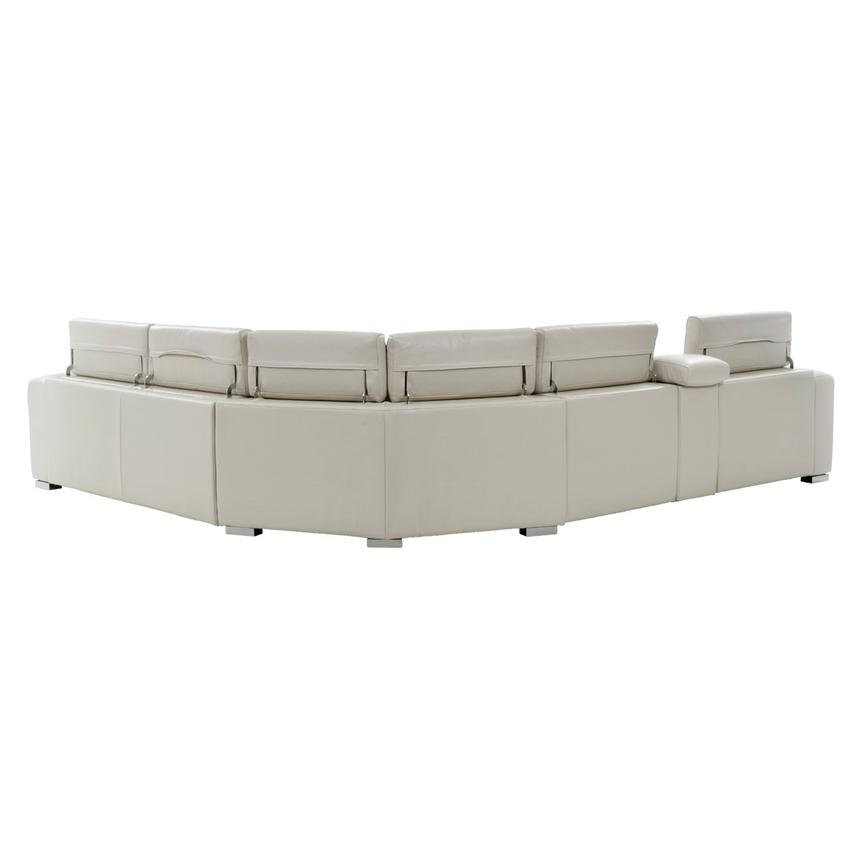 Bay Harbor Cream Power Motion Leather Sofa w/Right Sleeper  alternate image, 3 of 8 images.