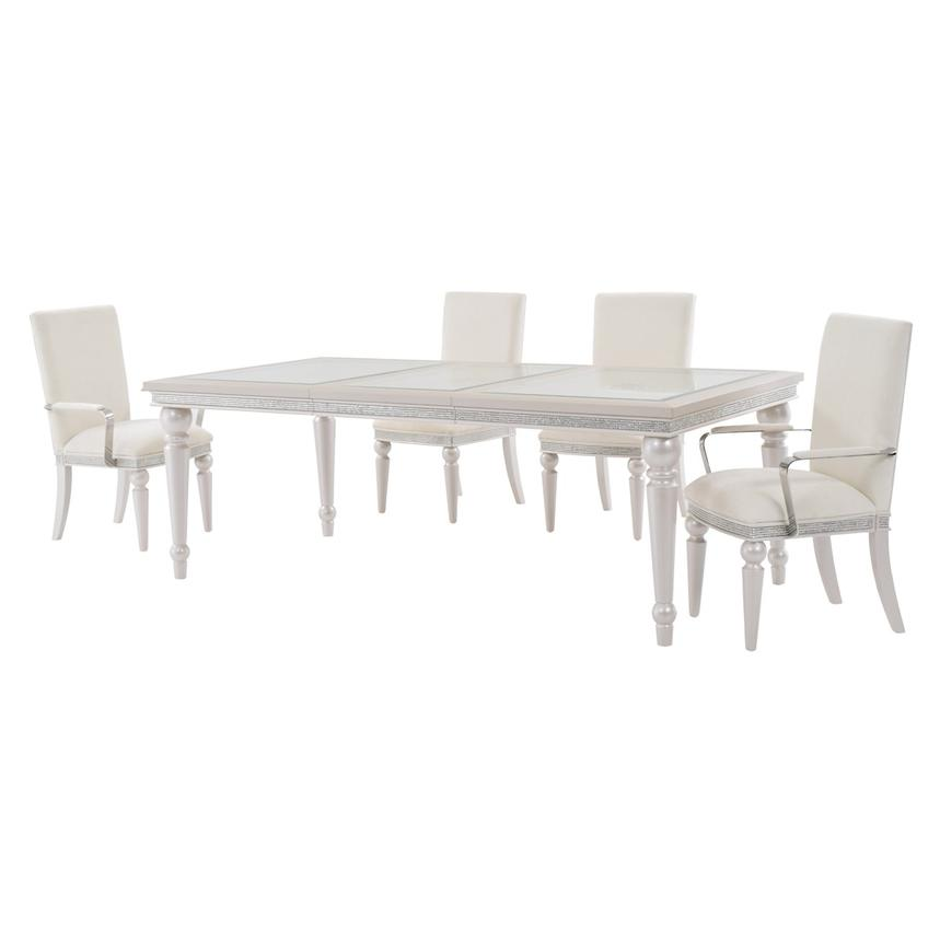 Glimmering Heights 5-Piece Formal Dining Set  alternate image, 2 of 12 images.