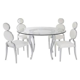 Letticia/Oprah 5-Piece Round Formal Dining Set