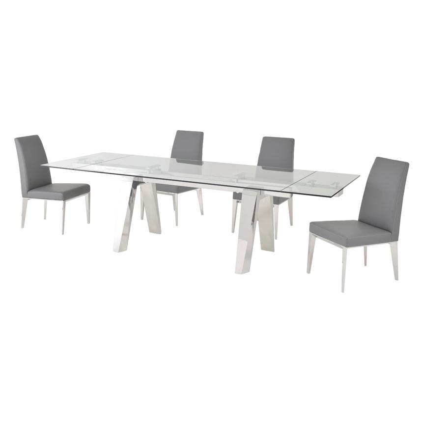 Madox Gray 5-Piece Formal Dining Set  alternate image, 2 of 12 images.