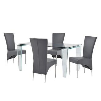 Vera/T-Gray 5-Piece Casual Dining Set