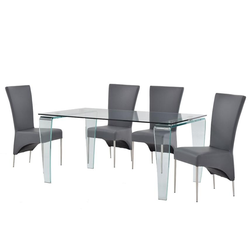 Vera/T-Gray 5-Piece Casual Dining Set  alternate image, 2 of 12 images.