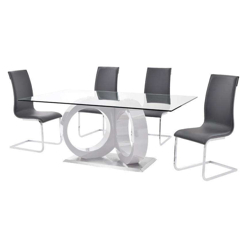 Stop 36 Gray 5-Piece Casual Dining Set  alternate image, 2 of 10 images.