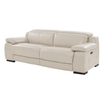 Gian Marco Cream Power Motion Leather Sofa