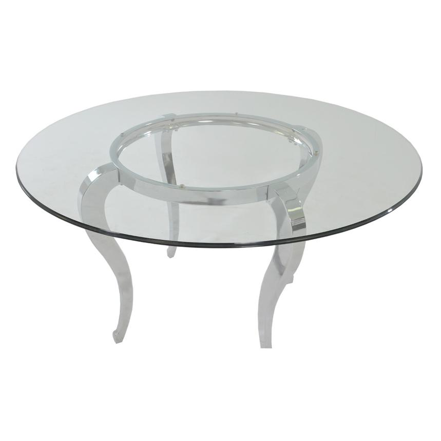 Letticia/Lizbon 5-Piece Round Formal Dining Set  alternate image, 3 of 8 images.